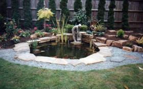Hard Landscaping - Water Features & Planting